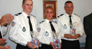 Réception en l'honneur de 3 policiers