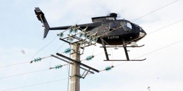 Diagnostic des lignes ENEDIS par hélicoptère