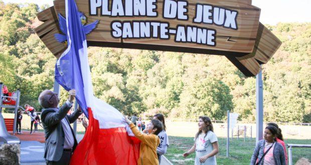 Inauguration de la Plaine de Jeux Sainte-Anne