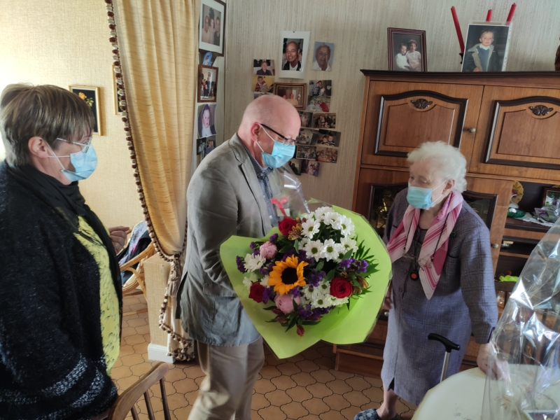 Mme Evrard 100 ans