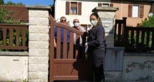 Distribution de masques aux séniors