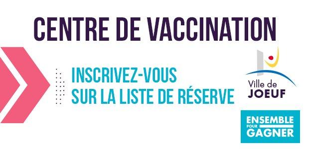 Inscription liste de réserve vaccination